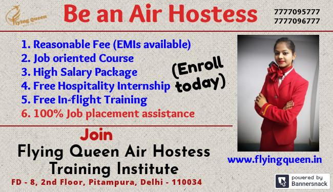 Flying Queen - Air Hostess Training Institute in Pitampura